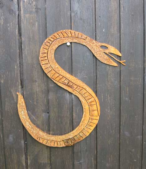 Stahlschnitt Schlänger Schlange